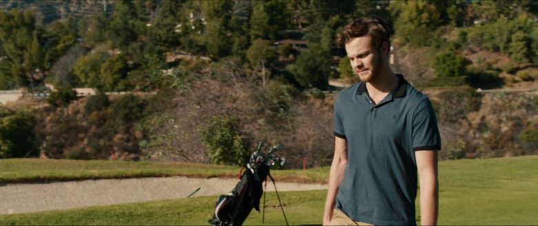 Original Penguin Blue Polo Shirt Worn by Jack Quaid in Plus One (2019) - Movie Product Placement