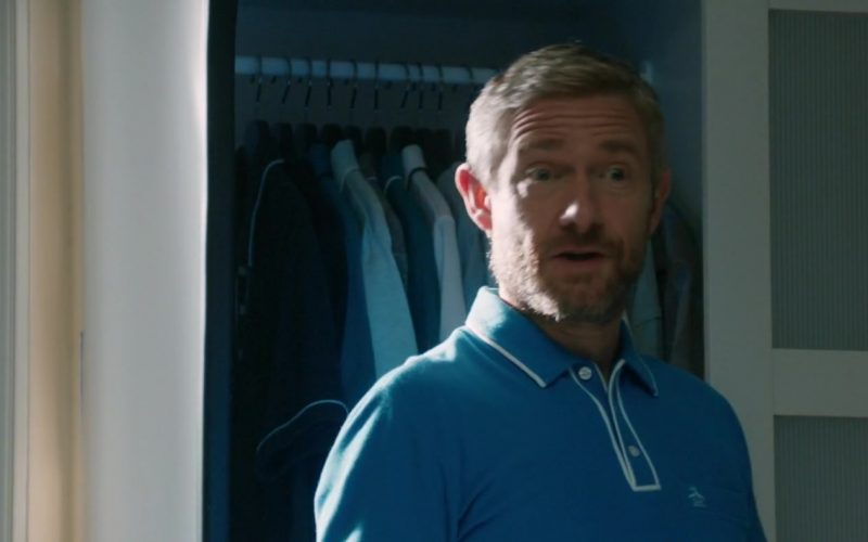 Original Penguin Blue Polo Shirt Worn by Martin Freeman in Ode to Joy