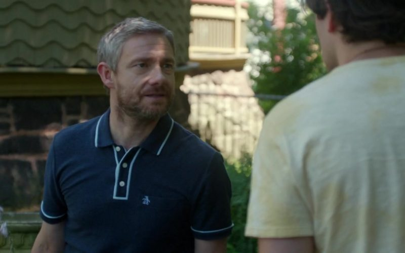 Original Penguin Dark Blue Shirt Worn by Martin Freeman in Ode to Joy (2)