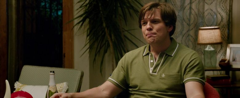 Original Penguin Green Polo Shirt Worn by Jake Lacy in Ode to Joy (2019) - Movie Product Placement