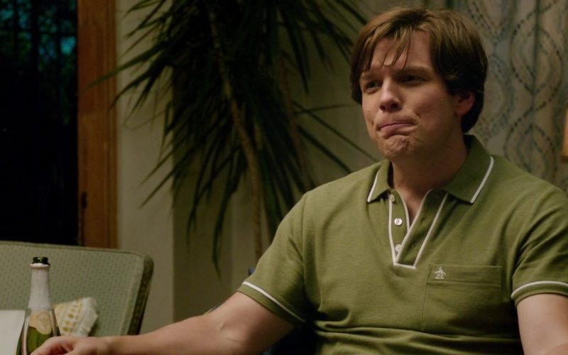 Original Penguin Green Polo Shirt Worn by Jake Lacy in Ode to Joy (1)