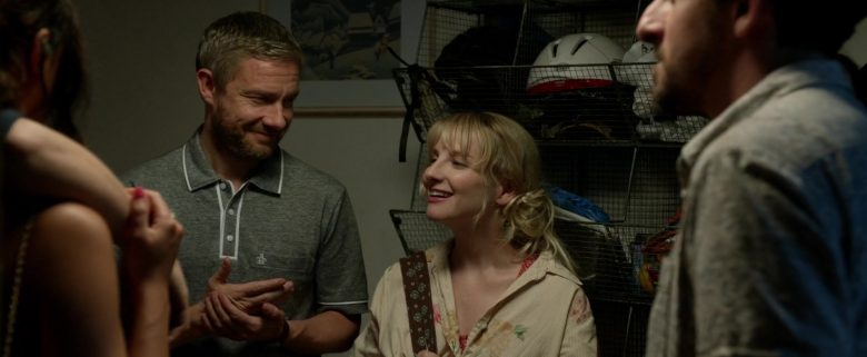 Original Penguin Grey Polo Shirt Worn by Martin Freeman in Ode to Joy (2019) - Movie Product Placement
