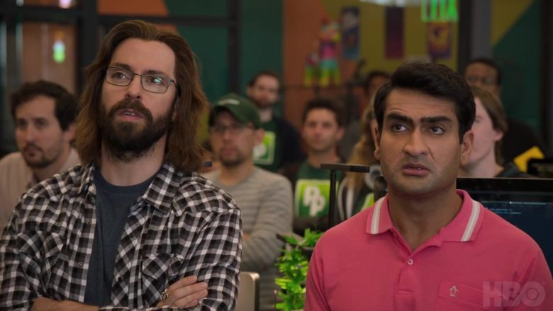 Original Penguin Pink Polo Shirt Worn by Kumail Nanjiani as Dinesh Chugtai in Silicon Valley - Season 6 Official Trailer (2019) - TV Show Product Placement