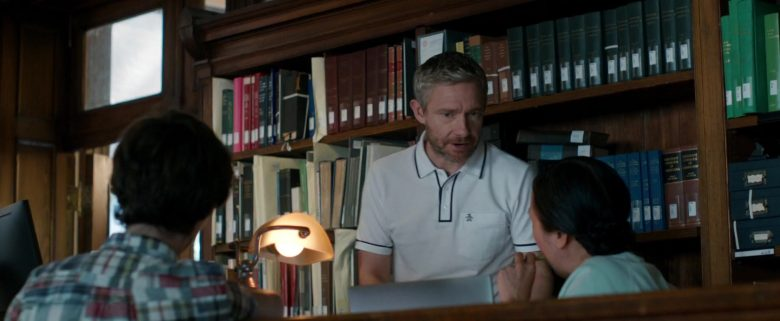 Original Penguin White Shirt Worn by Martin Freeman in Ode to Joy (2019) - Movie Product Placement