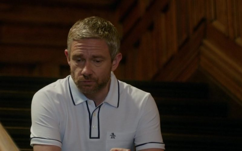 Original Penguin White Shirt Worn by Martin Freeman in Ode to Joy (4)