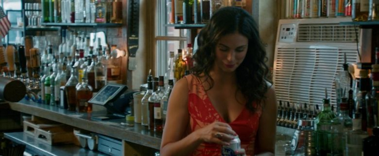 Pabst Beer Can Held by Morena Baccarin in Ode to Joy (2019) - Movie Product Placement