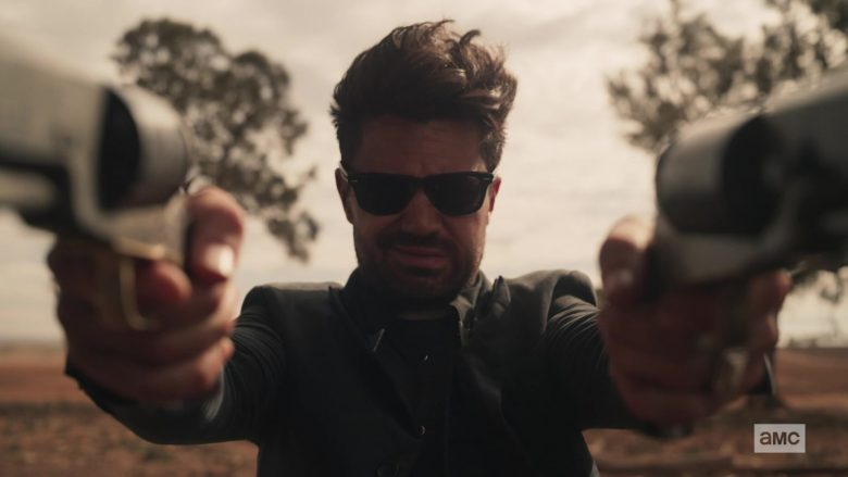 Ray-Ban Wayfarer Sunglasses Worn by Dominic Cooper as Jesse Custer in Preacher - Season 4, Episode 6, The Lost Apostle (2019) - TV Show Product Placement
