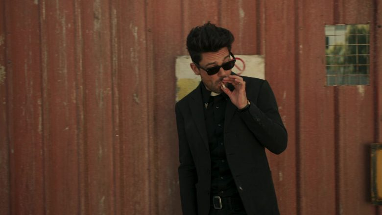 "Ray-Ban Wayfarer Sunglasses Worn by Dominic Cooper as Jesse Custer in Preacher - Season 4, Episode 5, ""Bleak City"" (2019) - TV Show Product Placement"