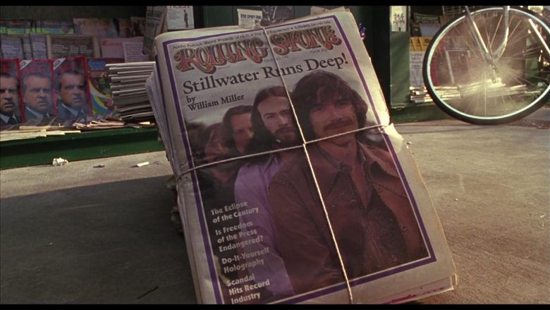 Rolling Stone Magazine in Almost Famous (2000) - Movie Product Placement