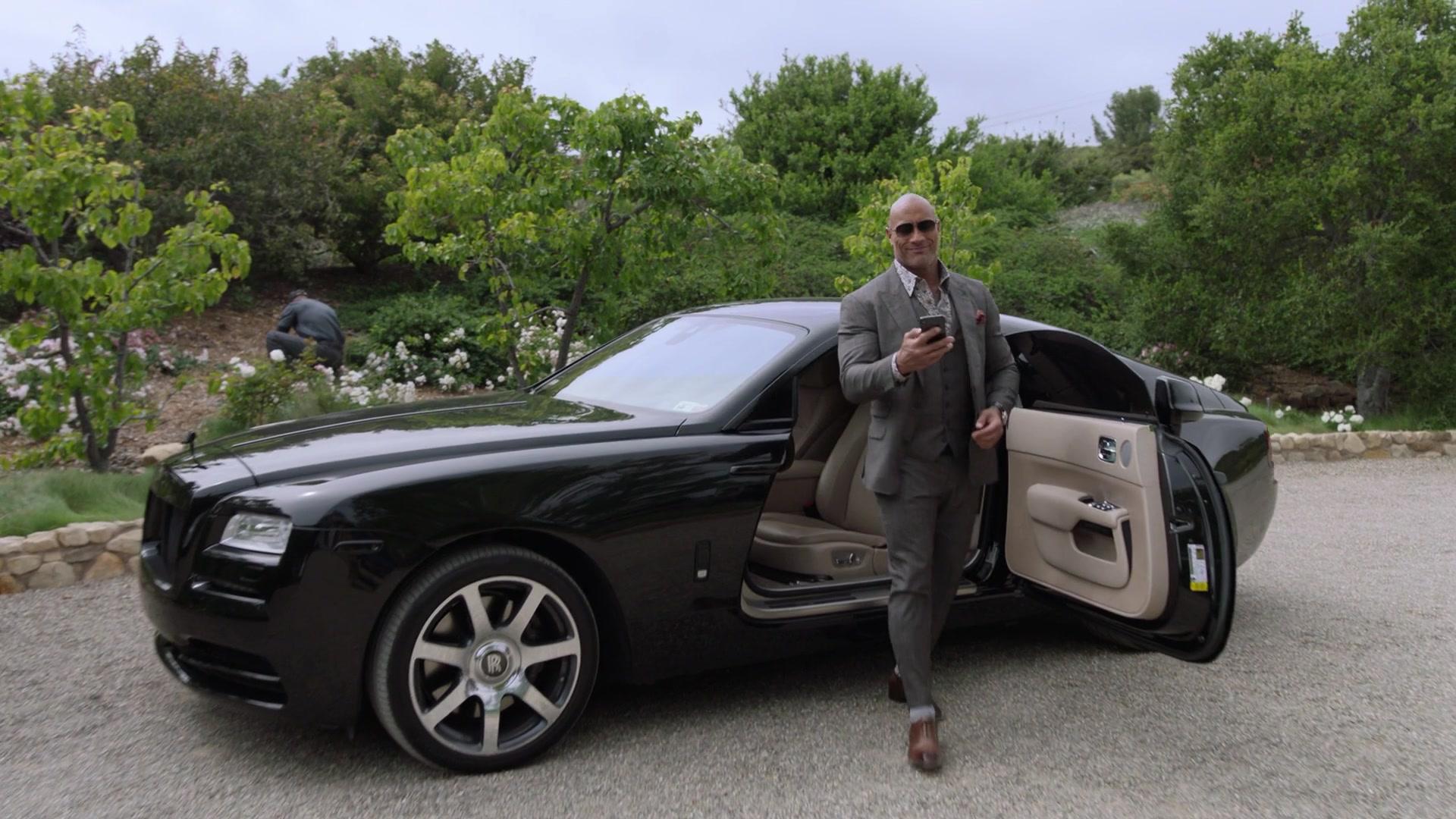 Rolls Royce Wraith Black Car Used By Dwayne Johnson As