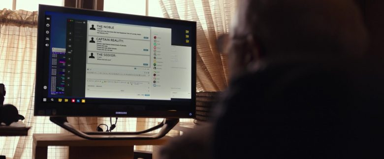 Samsung Computer Monitor in The Tomorrow Man (2019) - Movie Product Placement