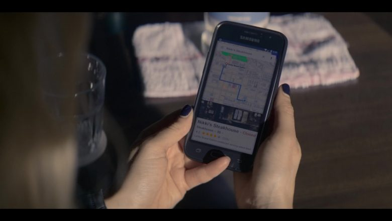 Samsung Galaxy Mobile Phone Used by Katheryn Winnick in Wu Assassins - Season 1, Episode 3, Fire Chicken (2019) - TV Show Product Placement