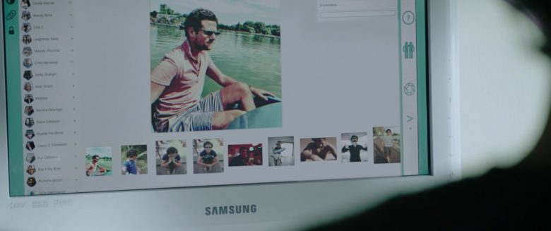 Samsung Monitor in Night Hunter (2018) - Movie Product Placement