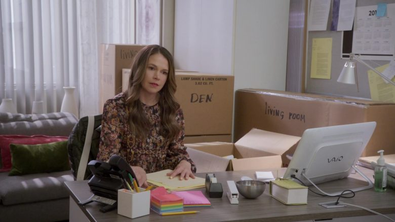 Sony Vaio Desktop PC Used by Sutton Foster As Liza Miller in Younger - Season 6, Episode 7, Friends With Benefits (2019) - TV Show Product Placement