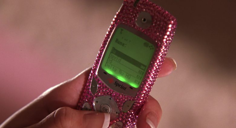 Sprint Mobile Phone Used by by Reese Witherspoon as Elle Woods in Legally Blonde 2: Red, White & Blonde (2003) Movie
