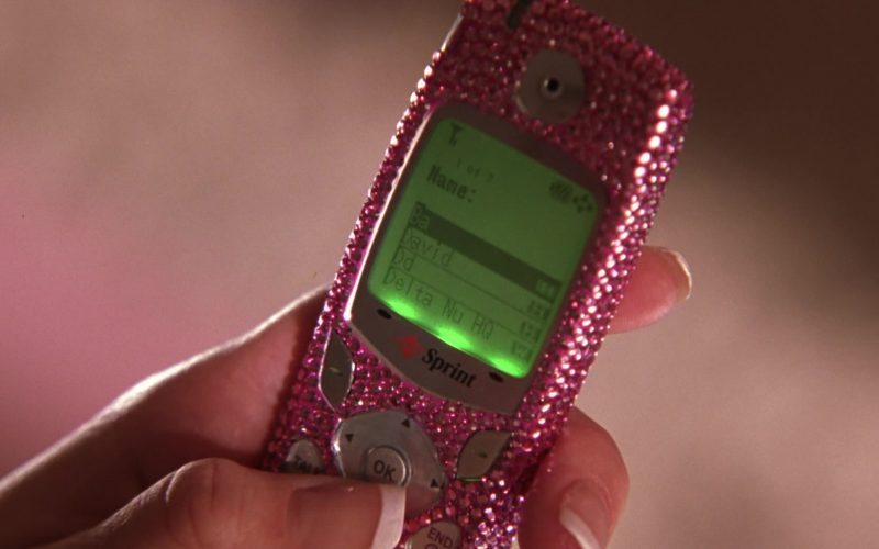 Sprint Mobile Phone Used by by Reese Witherspoon as Elle Woods in Legally Blonde 2