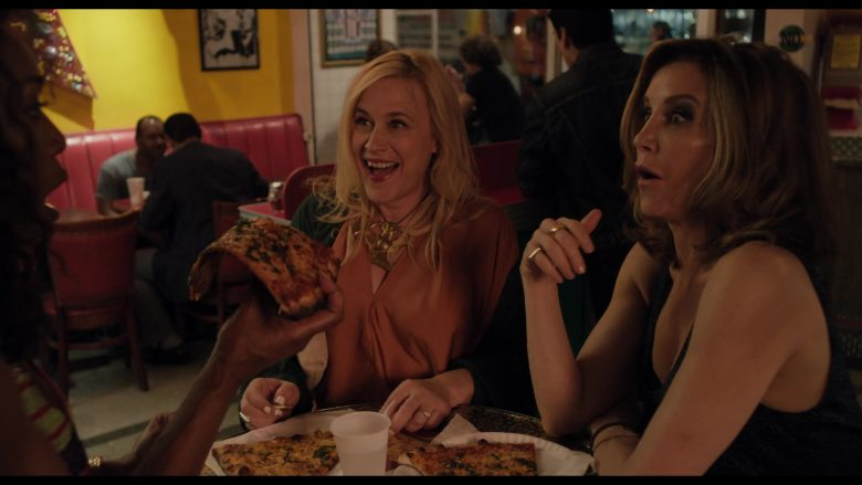 Two Boots To Go West Pizza in Otherhood (2019) - Movie Product Placement