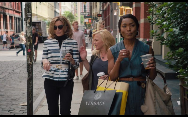 Versace Black Paper Bag Held by Angela Bassett in Otherhood (6)