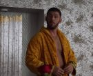Versace Yellow Bathrobe worn by Jack Kesy as Roller Husser in Claws (9)