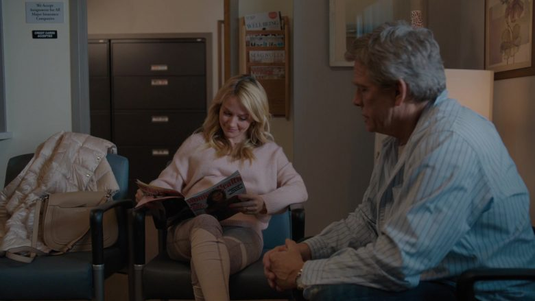 """Women's Health Magazine Held by Becki Newton in Divorce - Season 3 Episode 6 """"Knock Knock"""" (2019) - TV Show Product Placement"""