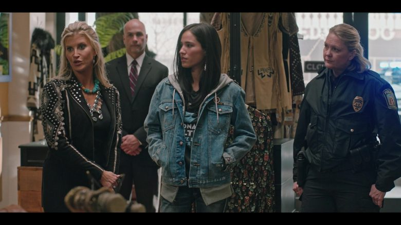 Wrangler Denim Jacket Worn by Kelsey Chow in Yellowstone - Season 2, Episode 9, Enemies by Monday (2019) - TV Show Product Placement