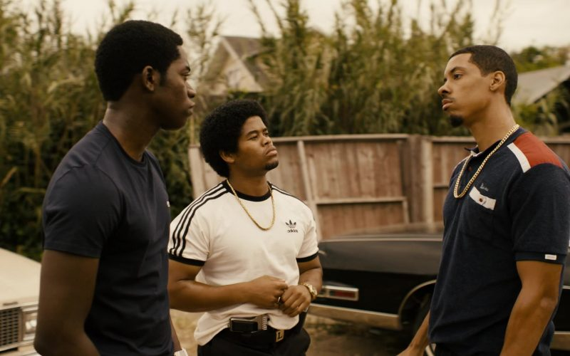 Adidas White T-Shirt Worn by Isaiah John in Snowfall (1)