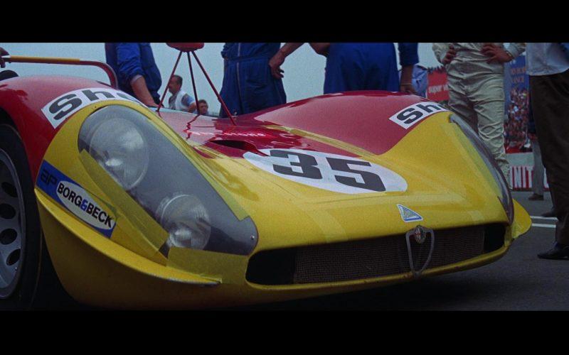Alfa Romeo T33-3 Car, Borg & Beck, Shell in Le Mans