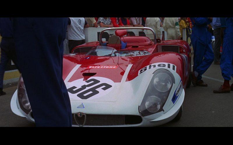 Alfa Romeo T33-3 Sports Car, Firestone, Shell in Le Mans