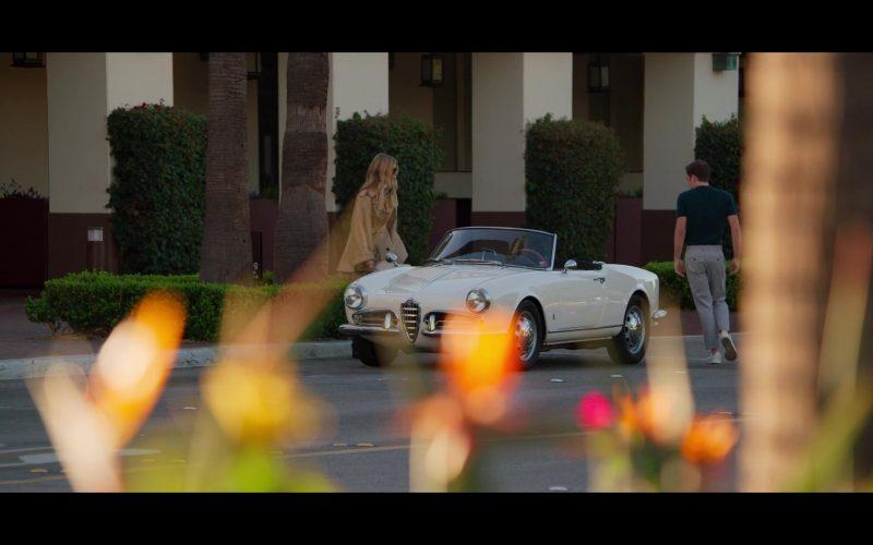 Alfa Romeo White Convertible Car in The Politician (1)