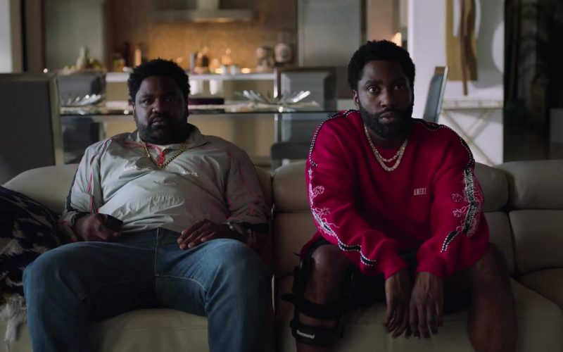 Amiri Red Sweatshirt Worn by John David Washington as Ricky in Ballers (1)