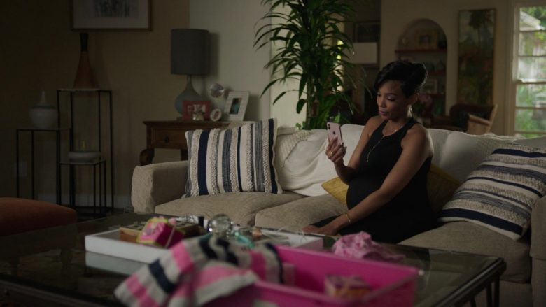 """Apple iPhone Held by Jazmyn Simon as Julie in Ballers - Season 5, Episode 3, """"Copernicursed"""" (2019) - TV Show Product Placement"""