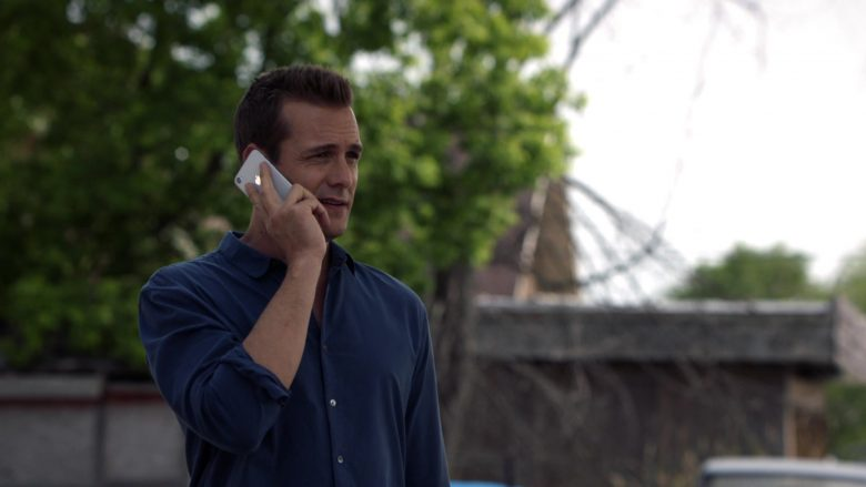 "Apple iPhone Smartphone Held by Gabriel Macht in Suits - Season 9, Episode 7, ""Scenic Route"" (2019) - TV Show Product Placement"