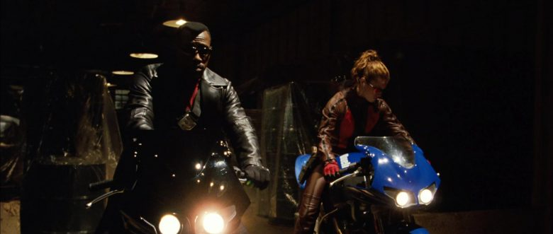 Buell XB 9R Firebolt Blue Motorcycle Used by Jessica Biel in Blade: Trinity (2004) - Movie Product Placement