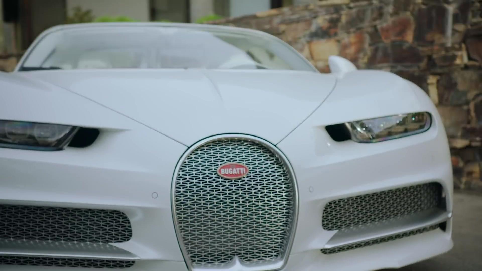 Bugatti Chiron White Super Sports Car In Saint-Tropez By Post Malone (2019)