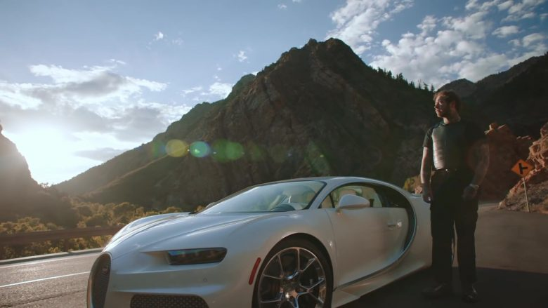 Bugatti Chiron White Super Sports Car in Saint-Tropez by Post Malone (2019) - Official Music Video Product Placement