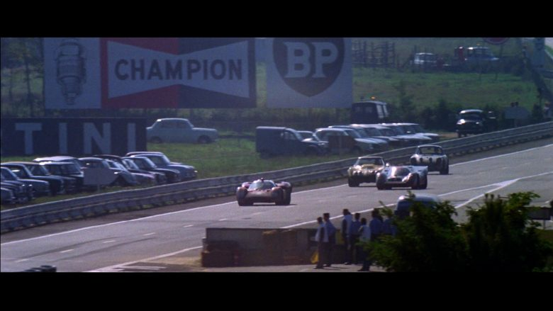 Champion Auto Parts and BP in Le Mans (1971) - Movie Product Placement