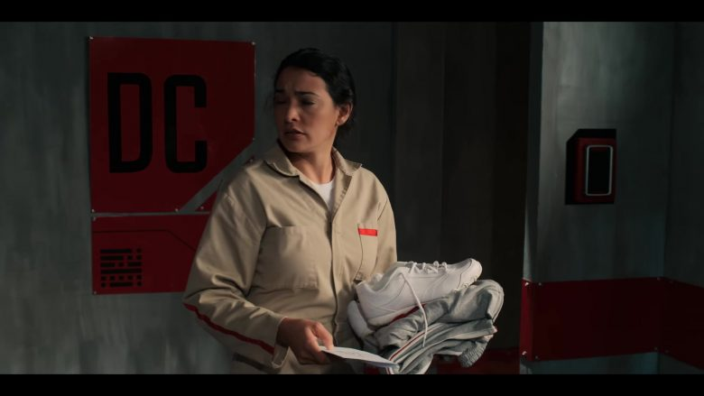 Champion Sneakers Held by Natalie Martinez in The I-Land - Season 1, Episode 7 (2019) - TV Show Product Placement