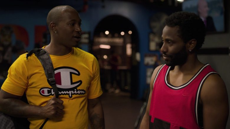 Champion Yellow T-Shirt in Ballers - Season 5, Episode 4, Municipal (2019) - TV Show Product Placement