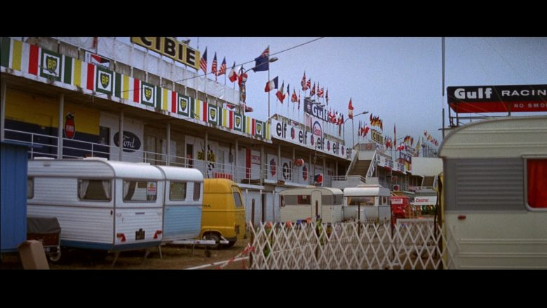Cibie, BP, Elf, Gulf, Ford in Le Mans (1971) - Movie Product Placement