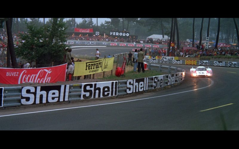 Coca-Cola, Ferrari, Shell, Ferodo, Total in Le Mans