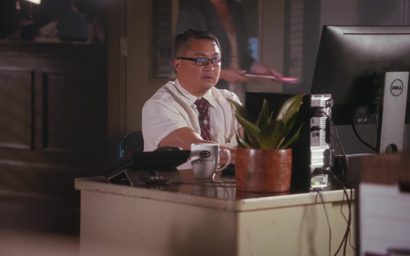 Coffee Beanery Mug and Dell Computer Used by Alec Mapa in Grand-Daddy Day Care
