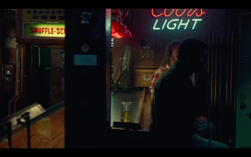Coors Light Beer Neon Sign in Between Two Ferns The Movie