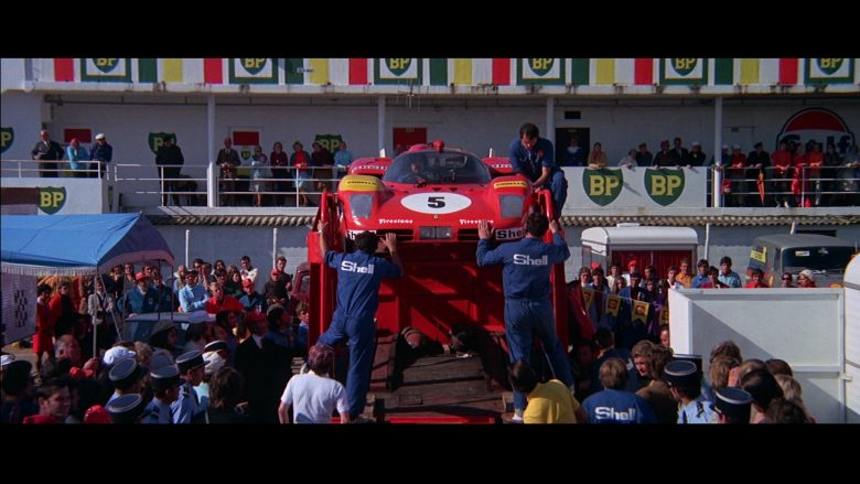 Ferrari, BP, Firestone, Shell in Le Mans (1971) - Movie Product Placement
