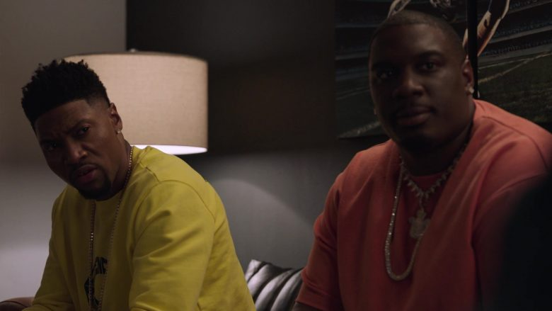 Givenchy Yellow Sweatshirt Worn by London Brown as Reggie in Ballers (2)