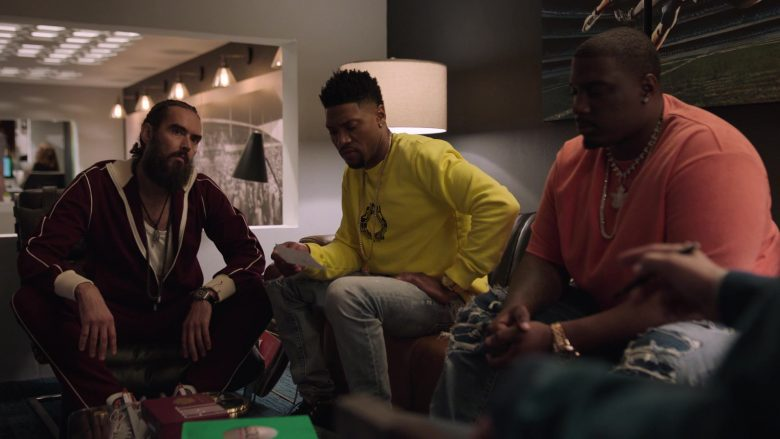 Givenchy Yellow Sweatshirt Worn by London Brown as Reggie in Ballers (3)