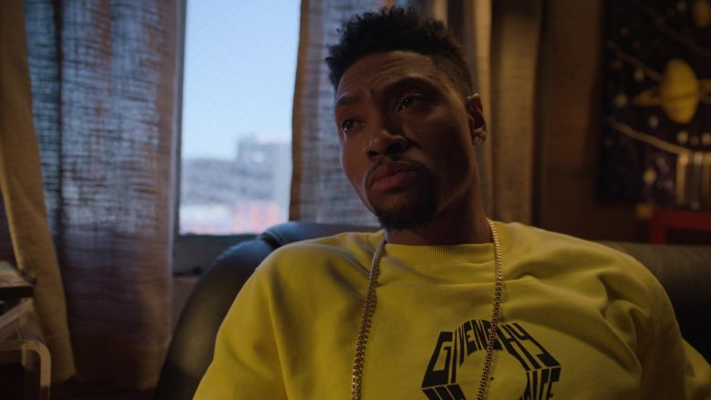 Givenchy Yellow Sweatshirt Worn by London Brown as Reggie in Ballers (5)