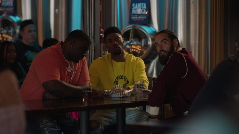 Givenchy Yellow Sweatshirt Worn by London Brown as Reggie in Ballers (6)