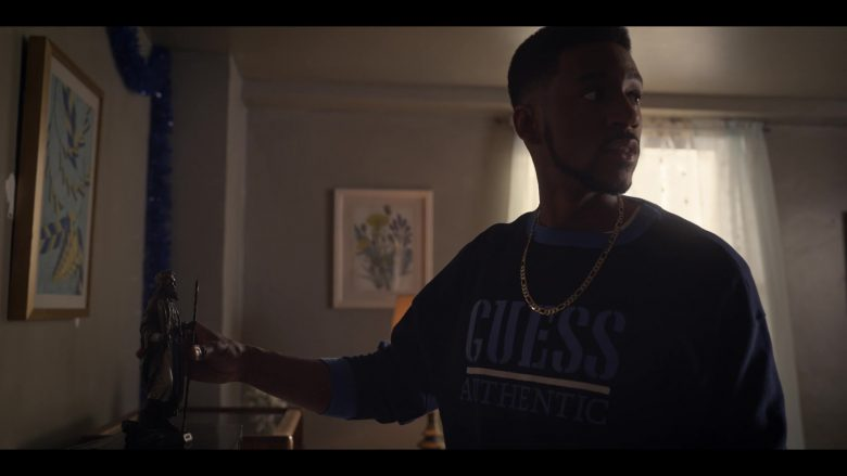 """Guess Sweatshirt in Wu-Tang: An American Saga - Season 1, Episode 4, """"All That I Got is You"""" (2019) - TV Show Product Placement"""
