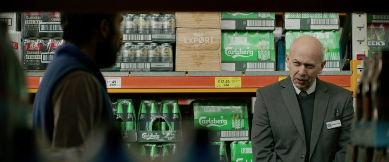 Guinness, Somersby and Carlsberg in Yesterday (2019) - Movie Product Placement