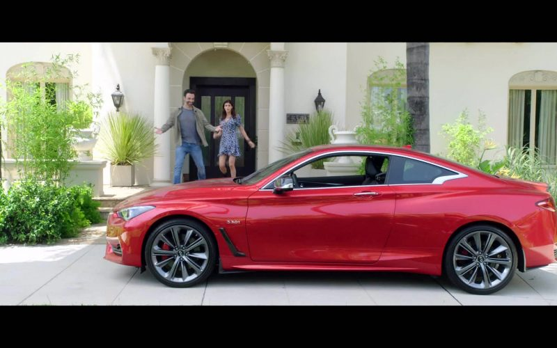 Infiniti Q60 S 3.0T Red Car in Why Women Kill